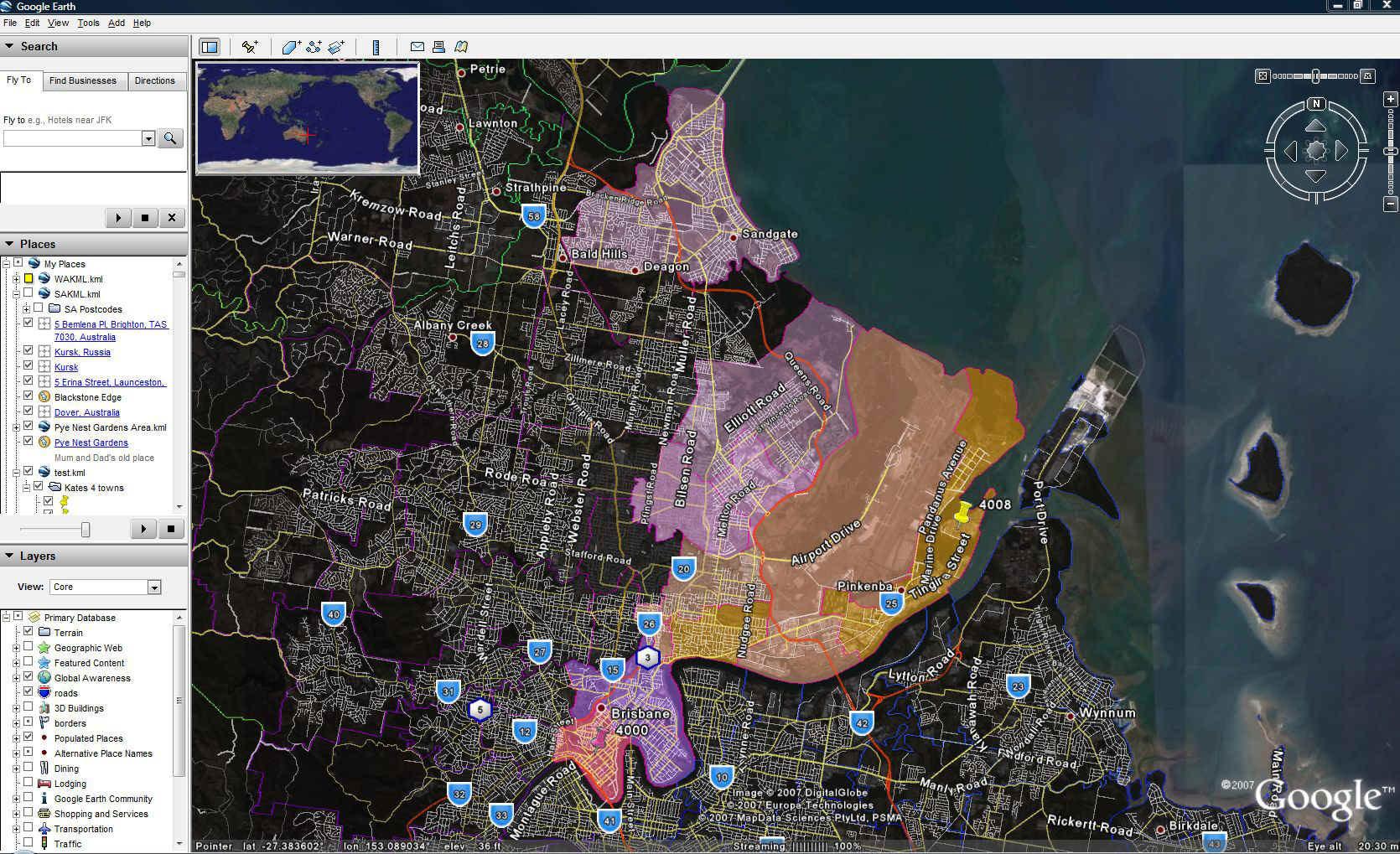Postcode GIS Data Series MapMakers Australia - Google maps us states kml
