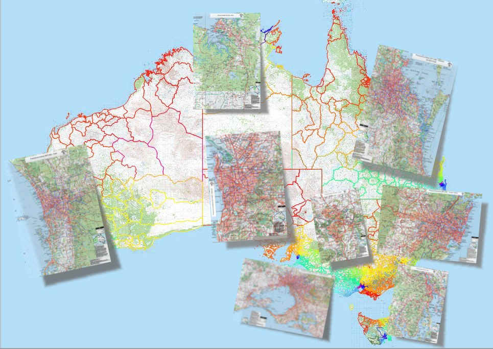 australian capital cities searchable map organisational license