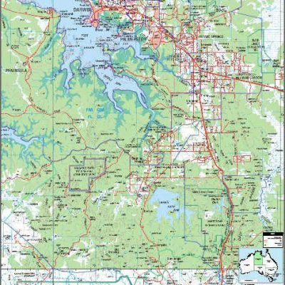Map Northern Australia.Darwin Nt Northern Territory Archives Mapmakers Australia