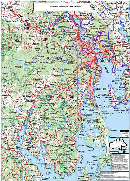 Hobart Searchable Map Organisational License MapMakers Australia - Hobart map