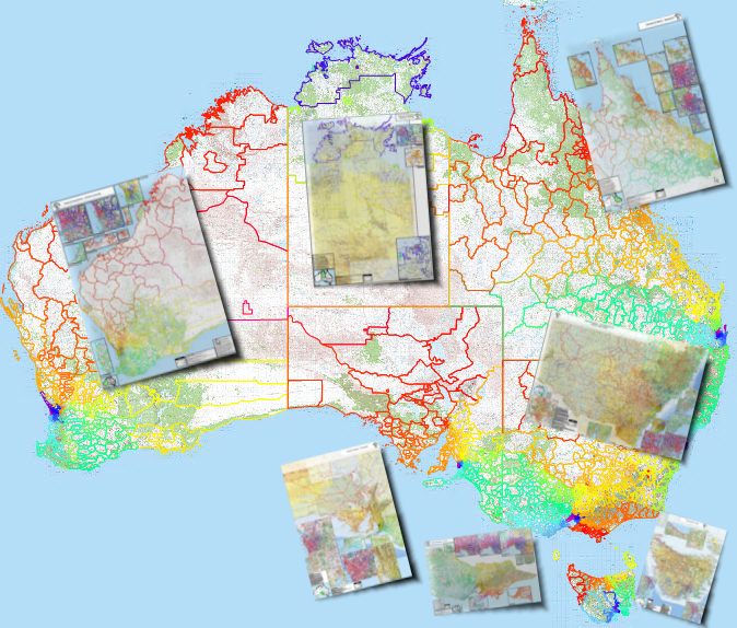 Australia Map And States.Standard Australian Postcode Map Compilation All States And Territories Small Business Licence