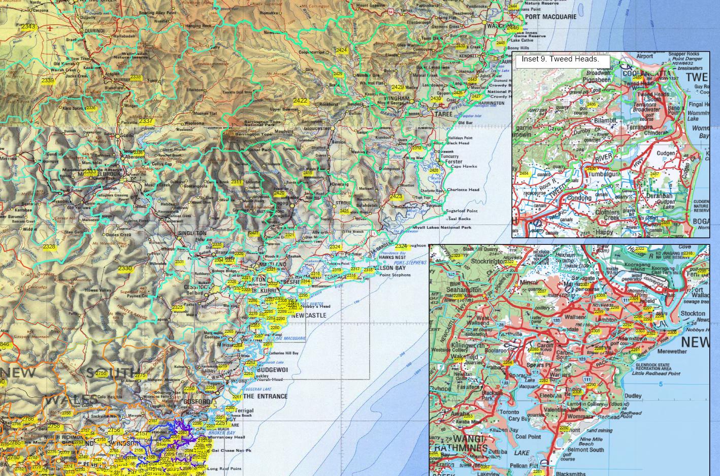 Full Map Of Australia.Australian Postcode Map Pdf Series Mapmakers Australia
