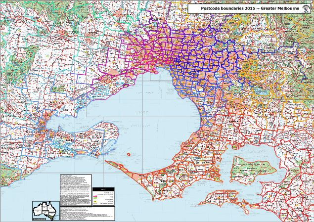 Map Of Victoria Australia With Cities And Towns.Australian Postcode Map Pdf Series Mapmakers Australia